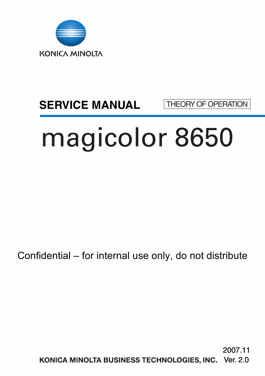 Konica-Minolta magicolor 8650 THEORY-OPERATION Service Manual-1